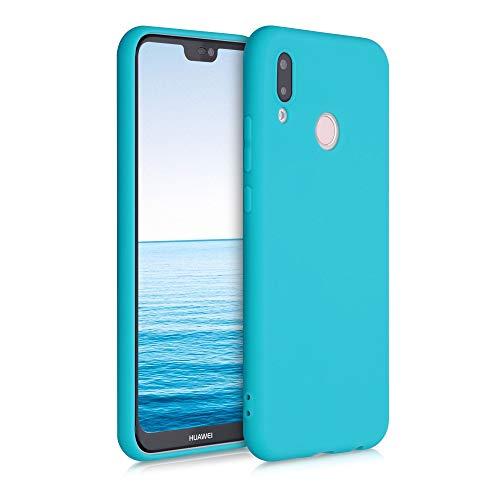 kwmobile Cover Compatibile con Huawei P20 Lite - Cover Custodia in Silicone TPU - Backcover Protezione Posteriore - Azzurro Mare