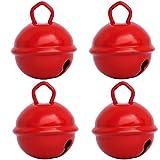 Gros Grelots Musicaux Couleurs Rouge (4 clochettes 25mm) Existe en Petits...