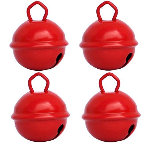 Musikid Grelot Rouge 25mm Gros (X 4 Clochettes 1 couleur) Loisirs Créatifs Décoration Noël Fête Anniversaire Enfant Bébé Chien