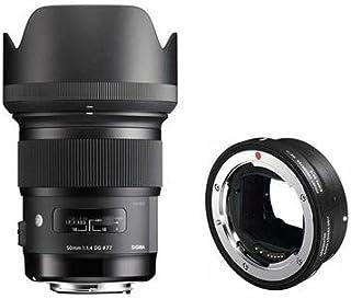 シグマ50mm f / 1.4DG HSM Artレンズfor Canon EOSカメラ–USA保証–Bundle with SigmaマウントコンバーターMC - 11、Sigma EFレンズto Sony Eカメラ