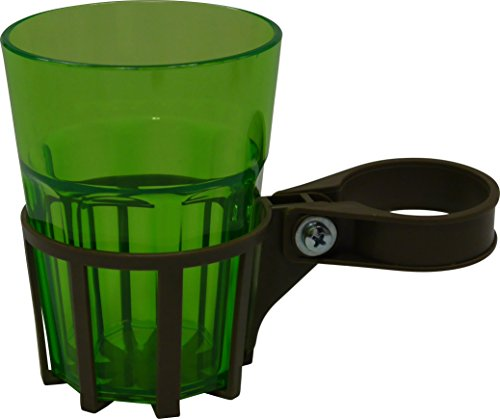 Angerer Getränkehalter für Hollywoodschaukel mocca, inkl. Becher grün, 973/0001