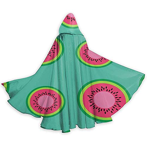 Not Applicable Cape Kostüm,Erwachsener Kap Mit Kapuze,Umhang Mit Hut,Lose Umhang,Kapuze Lange Cape,Kreis Wassermelone Schnittmuster Party/Weihnachtskostüm, Vampirumhang