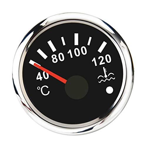 KESOTO 40-120 ℃ Wassertemperatur Anzeige für Boot Jacht Auto, Φ 52 mm, Ölbeständig, Hitzebeständig, Wasserdicht IP 67