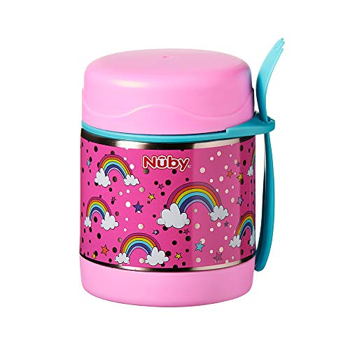 Nuby Stainless Steel Food Jar, Rainbows
