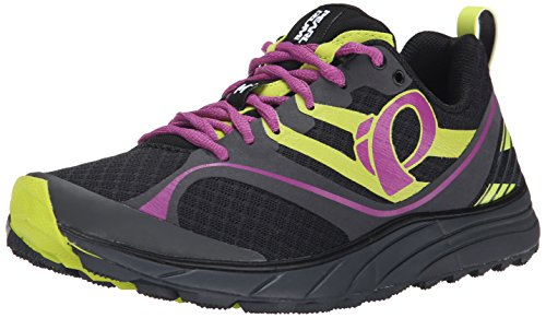 Pearl Izumi Women's W EM Trail M 2 Trail Running Shoe, Black/Meadow Mauve, 5 B US