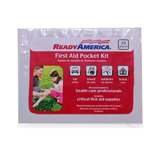 Ready America 74001 First Aid Pocket Kit, 33-Piece