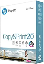 HP Printer Paper 8.5x11 Copy&Print 20 lb 1 Ream 500  Sheets 92 Bright Made in USA FSC Certified Copy Paper HP Compatible 200060