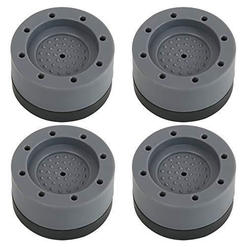 Schwingungsdämpfer Waschmaschine, 4 Stück Universal Antivibrationsmatte antirutschmatte, Gummifüße Waschmaschine Antivibrationsmatte, Vibrationsdämpfer für Waschmaschinen Trockner