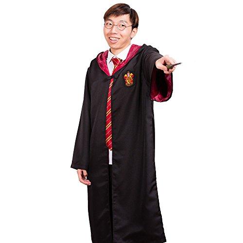 Harry Potter Gryffindor School Fancy Robe Cloak Costume And Tie (Size XL)