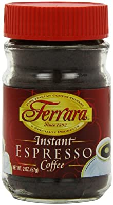 Ferrara Instant Espresso Coffee, 2 Ounce Glass Jars from Ferrara