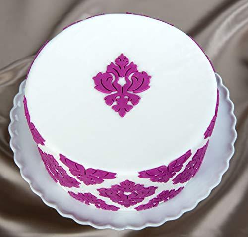 Marvelous Molds Damask Medallion Silicone Onlay | Cake Decorating with Fondant and Gum Paste Icing