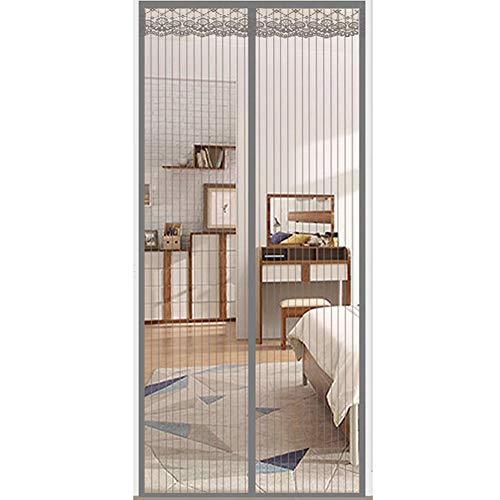 Anti muggen magnetische zachte deur zilver grijs zomer ventilatie gaas mute anti-vliegen deur gordijn 100x250cm(39x98inch)