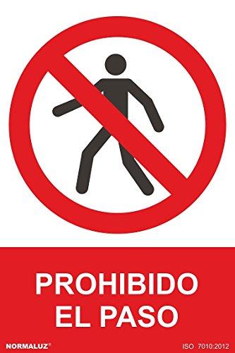 Normaluz RD41002 - Señal Prohibido El Paso Carteles PVC 0,7mm 30x40 cm