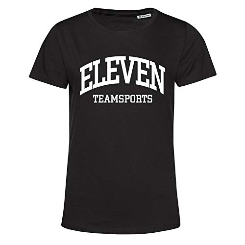 11teamsports Eleven T-Shirt Damen Schwarz Weiss