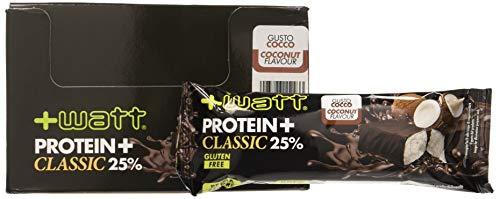 Protein+ Bar - +Watt - Box 24 Barrette Proteiche 40g Cocco