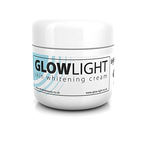 Glowlight Made In UK Skin Whitening & Lightening Cream Lotion for Age Dark Spots, Acne Scars, Scars, Stretchmarks & All Round Brighter Radient Skin 50g (5 Tub x 50g)