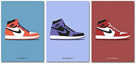 YGYT 3 Piece Fashion AJ Shoes Air Sneaker Michael Canvas Poster Home Decor Wall Art Painting product image