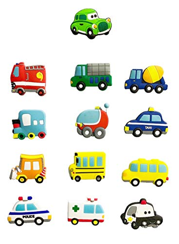 VLOOK Fridge Magnets for Kids Cartoon Car Magnetic Toys Baby Refrigerator Magnets for Whitboard Noticeboard