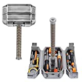 XTD Thor's Hammer Toolbox Kit- Daily Maintenance Filling Household Toolbox Pliers DIY Repair Tools Multi-Function Tool Accessory Kit- Suitable For Halloween Party A
