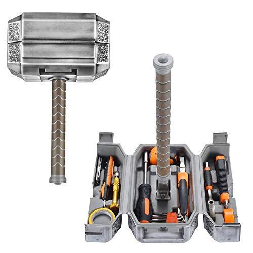 Thor Hammer Tool Kit, Tägliche Reparatur Gefüllte Haushaltswerkzeugkofferzange ect DIY Reparatursätze Multi Tools Thor Hammer Zubehörset