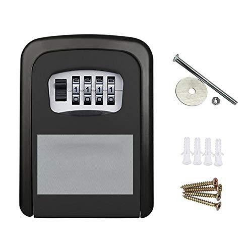 Alarmclocker8B Caja de Llave con contraseña,Caja de Seguridad,Caja de Seguridad con Llave de Pared-Negro