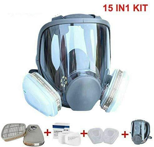 Chidi Toy 15 in 1 Atemschutzmaske Staubmaske Vollgesichtsmaske, ähnlich für 6800 Gasmaske Staubschutzmaske Respirator für Painting Spraying Welding Chemicals