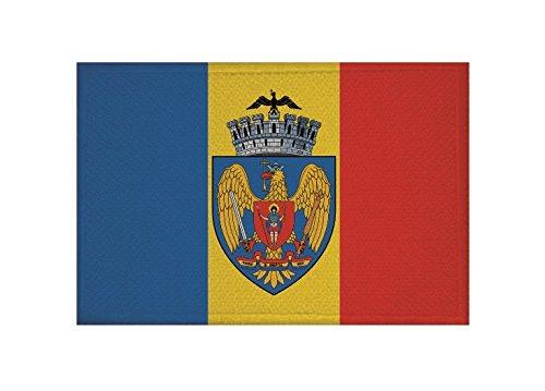 U24 Aufnäher Bukarest Flagge Aufbügler Patch 9 x 6 cm
