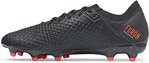 New Balance Furon v6 Pro Leather FG, Bota de fútbol, Black, Talla 7 US (40 EU)