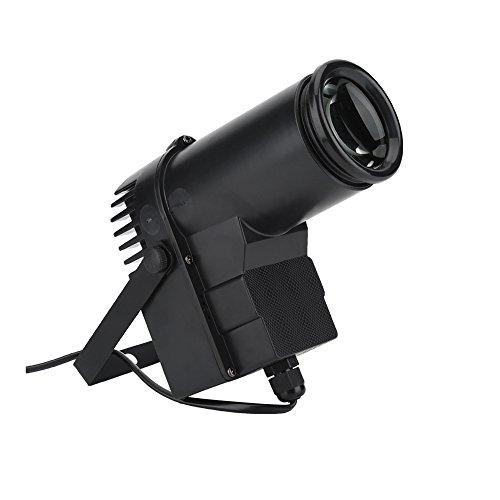 Preisvergleich Produktbild Delaman® LED Strahler Pinspot Bunt RGB LED Bühnenlicht Stimme Aktiviert Lichteffekt für Disco Party Feiern Veranstaltung,  Shwarz 15W