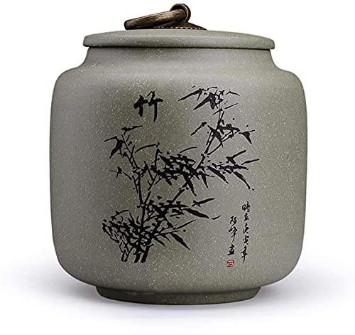 WHXL Ceramica Tea Jar stoccaggio di stoccaggio vasetti tè tè lattina lattina Viola Sabbia da tè Caddy, stoccaggio a Prova di umidità sigillata Vaso di stoccaggio Domestico.