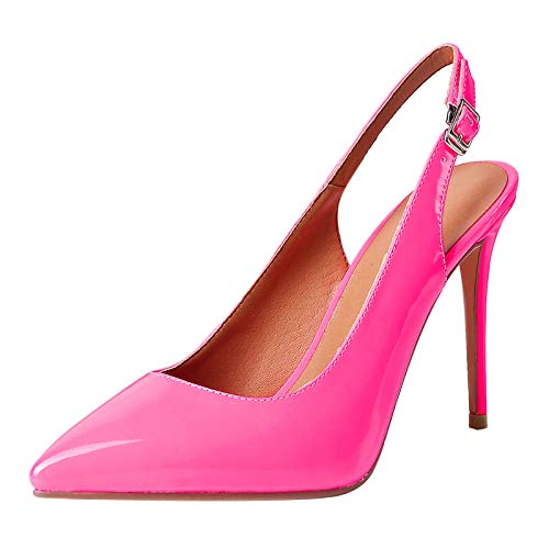 SeiteHuud Moda Mujer Tacón de Aguja Sandalias Slingback Verano Zapatos Puntiagudo Sandalias con Hebilla Noche Prom Sandalias Meihon Numero 36 Asiática