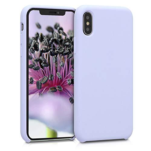 kwmobile Carcasa Compatible con Apple iPhone X - Funda de Silicona para móvil - Cover Trasero en Lavanda Pastel