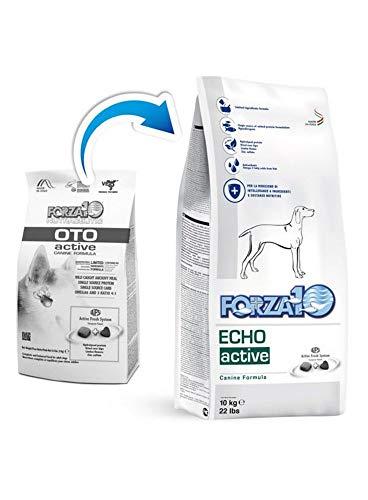 Forza 10 Dog Echo Active, Supporto nutrizionale per la riduzione di intolleranze a ingredienti e sostanze nutritive, 10 Kg