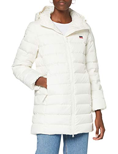 Levi's Core Down Mid Lngth Puffer Giacca, Tofu, XS Donna