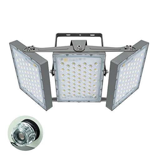 STASUN LED Flood Lights Outdoor , 300W 27000LM Dusk to Dawn Security Light with Photocell , IP65 Waterproof , 5000K , 3 Heads Adjustable Wide Lighting for Area Exterior Parking Lot Outside Light