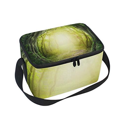 Sac à déjeuner Art Route mystérieuse Forêt Cooler pour pique-nique Bandoulière Boîte à lunch
