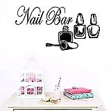 Stickers Muraux Art Mural Créatif Nail Salon Bar Comptoir Chambre Décoration Bar Décoration 43X81 Cm