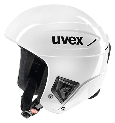 uvex Unisex– Erwachsene, race + Skihelm, all white, 58-59 cm