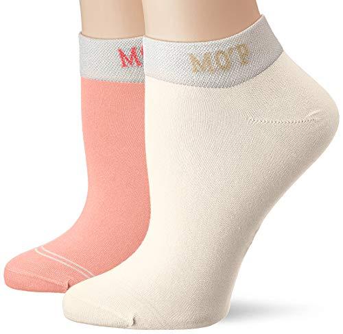 Marc O'Polo Body & Beach Damen Legwear W-SNEAKER SOCKS 4-PACK Füßlinge, Rot (Rosa 503), 39/42 (Herstellergröße: 403) (4er Pack)