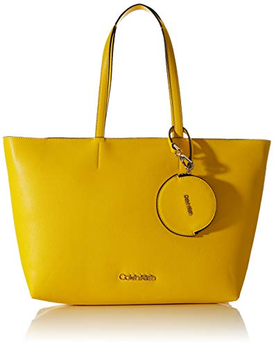 Calvin Klein Damen Ck Must Shopper Md Cav Tote, Gelb (Scuba Yellow), 1x1x1 cm