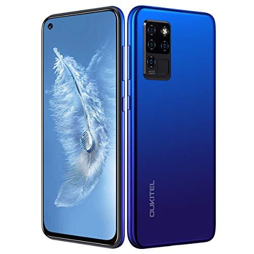 OUKITEL C21 Smartphone Ohne Vertrag Android 10 Handy 4GB+64GB 6,4 Zoll FHD+ AI Fünf Kamera Quad-KameraHelio P60 Dual-SIM 4000mAh großer Akuu BLAU