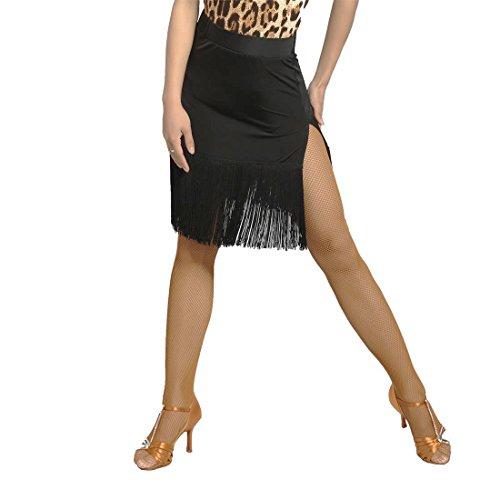 SCGGINTTANZ G2012 Latein Moderne Tanz Professionell zweiseitig gegabelt und Quasten Swing Rock ((FBA) Black, L)
