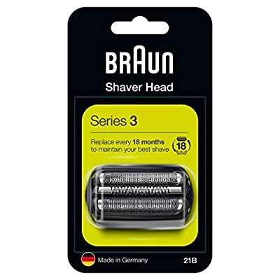 Braun 21B Series 2 Electric Shaver Replacement Foil and Cassette Cartridge - Black