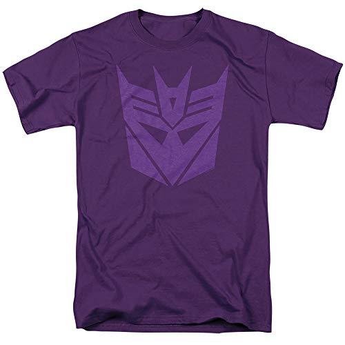 Transformers Decepticon Logo T Shirt & Stickers (Large) Purple