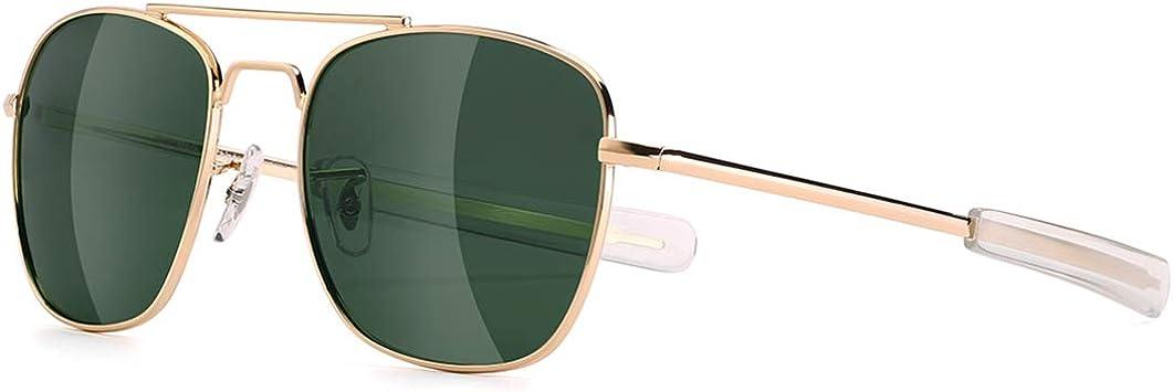 Mens Aviator Japan's largest assortment NEW before selling ☆ Sunglasses Polarized 55mm Sha Pilot Military Square