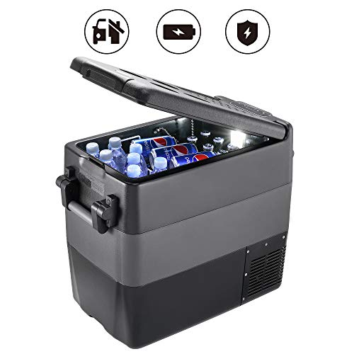 JoyTutus Portable RV Refrigerator Freezer 53 Quart(50L) RV Fridge (-4℉~50℉) Car Refridgerator Electric Compressor Car Cooler for Truck Driving, Boating, Camping, Road Travel and Home-12/24V DC
