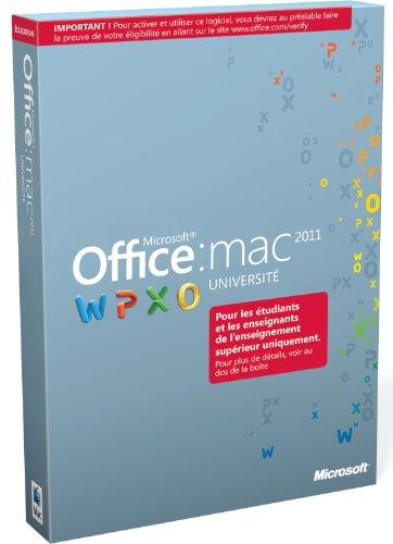 Office Mac Université 2011 (version professionnelle réservée aux étudiants et enseignants de l'enseignement supérieur)