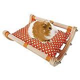 LEPSJGC Hamster Holz Abnehmbarer Rahmen Meerschweinchenbett Haus Schlafsofa Spielen Spielzeug Schaukelbett Nest Hängematte Käfig für Kleintiere (Color : A)