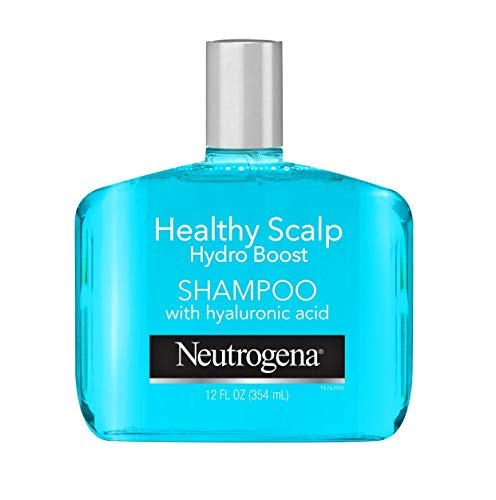 Neutrogena Moisturizing Healthy Scalp Hydro Boost Shampoo for Dry Hair and Scalp, with Hydrating Hyaluronic Acid, pH-Balanced, Paraben & Phthalate-Free, Color-Safe, 12oz
