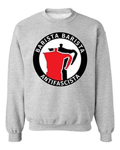 BakoIsland Barista Barista Antifascista Funny Unisex Sweatshirt Sweater Jumper Medium